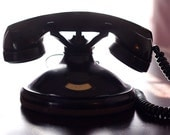 Antique 1920s Stromberg Carlson Black Minimalist Hotel Telephone Room Call Phone