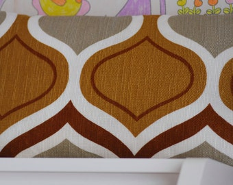 "Vintage pillow cover ""drops"" #2 Vintage fabric pillow case 70s print cushion"
