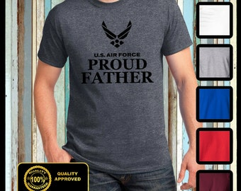 Air Force Proud Father t shirt Fathers day Son and Daughter Gifts for Dad Air Force Proud Papa Shirt