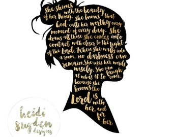 Instant Download | Quote Art | Silhouette