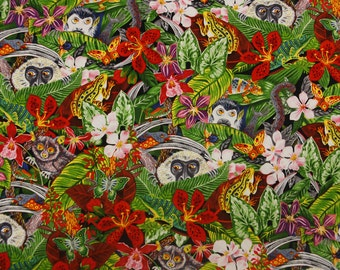 Jungle Monkey Quilting Fabric By The Yard