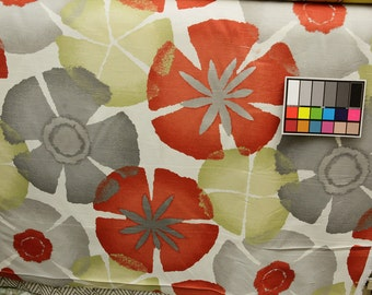 Robert Allen PURE PETALS CORAL  Drapery Fabric By The Yard