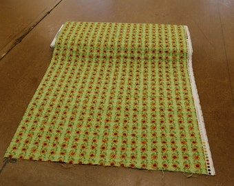 Light Green Floral Vine Quilting Fabric By The Yard
