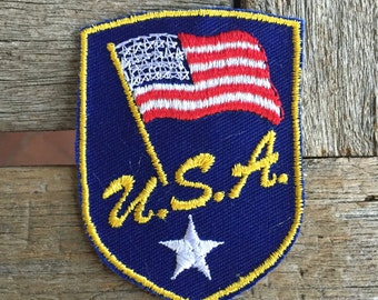 USA Vintage Travel Souvenir Patch from Voyager