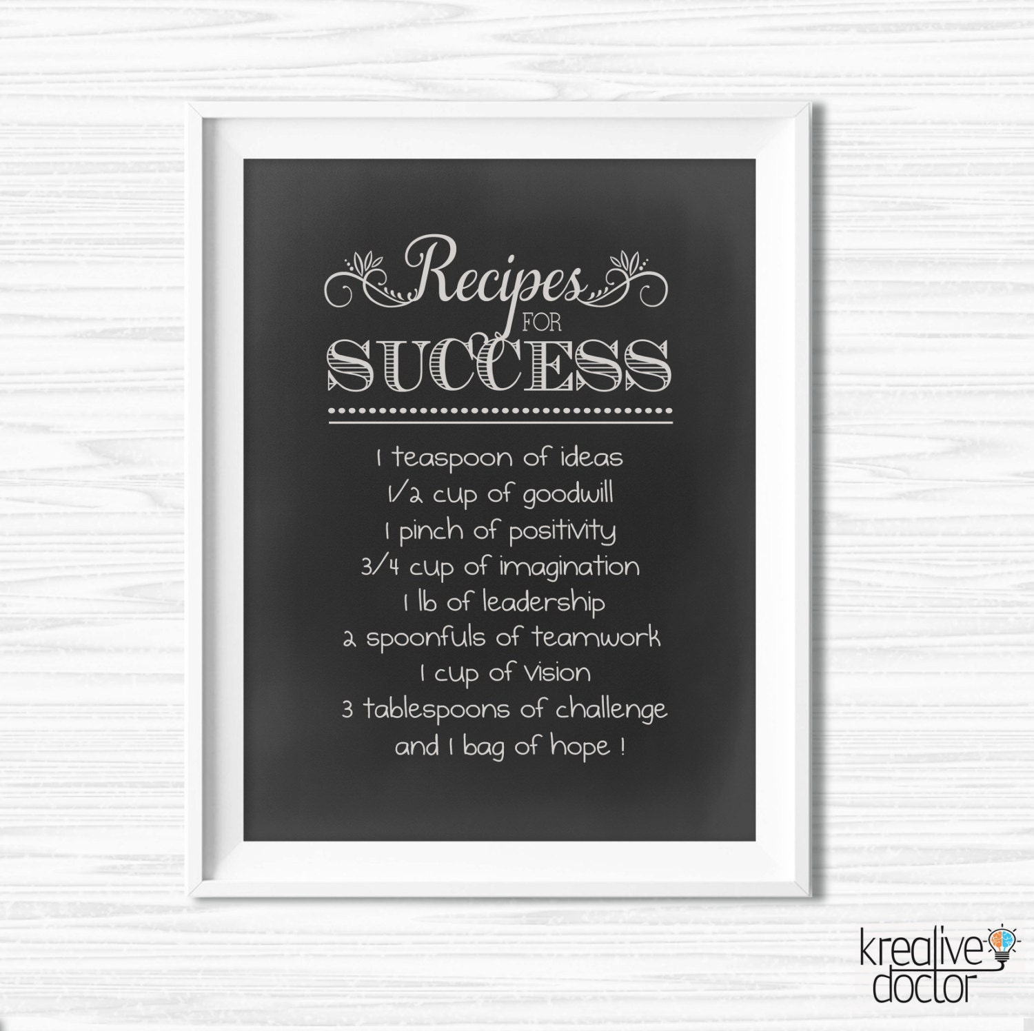 Office wall art success quotes motivational wall decor for Motivational quotes for office cubicle