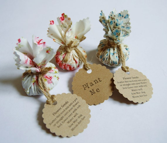 flower seed wedding favors set of 10 country garden flower seed wedding favours with 4208