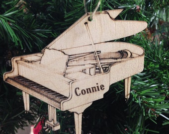 Piano 1 Personalized Christmas Ornament