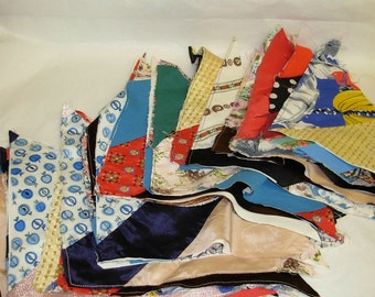 """Vintage Quilt Triangles to Create 8 1/2"""" Squares, 33 Pieces"""