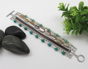 Multiple row bracelet