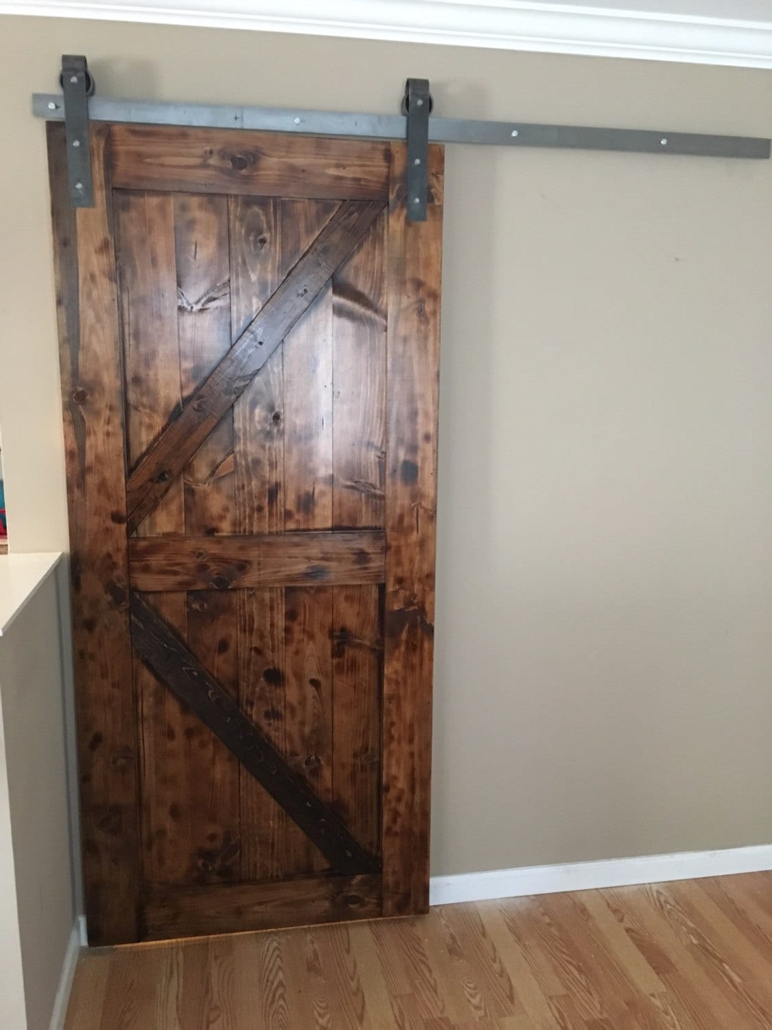 Industrial Metal Sliding Window : Rustic industrial raw steel sliding barn door by awrestoration