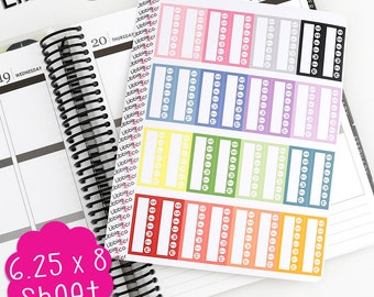LS31 Pale Habit Tracker Stickers! Set of 32 Perfect for the Erin Condren Life Planner!!
