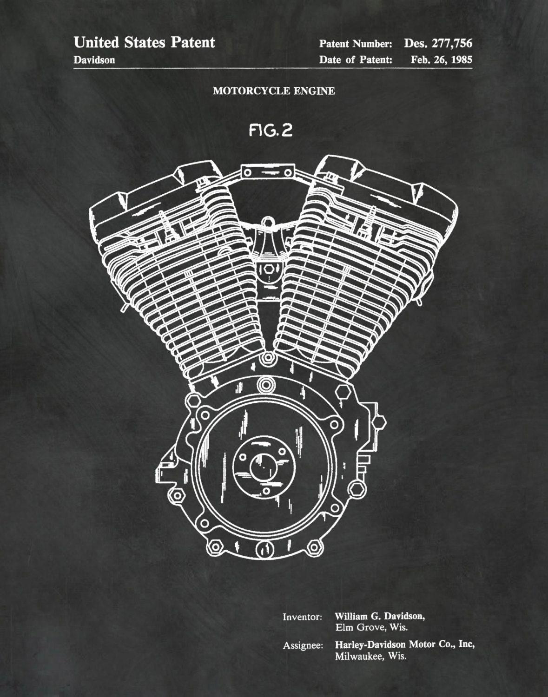 Harley Davidson Engine Diagram Parts Patent 1985 Evo Soft Tail Evolution 103 Motor