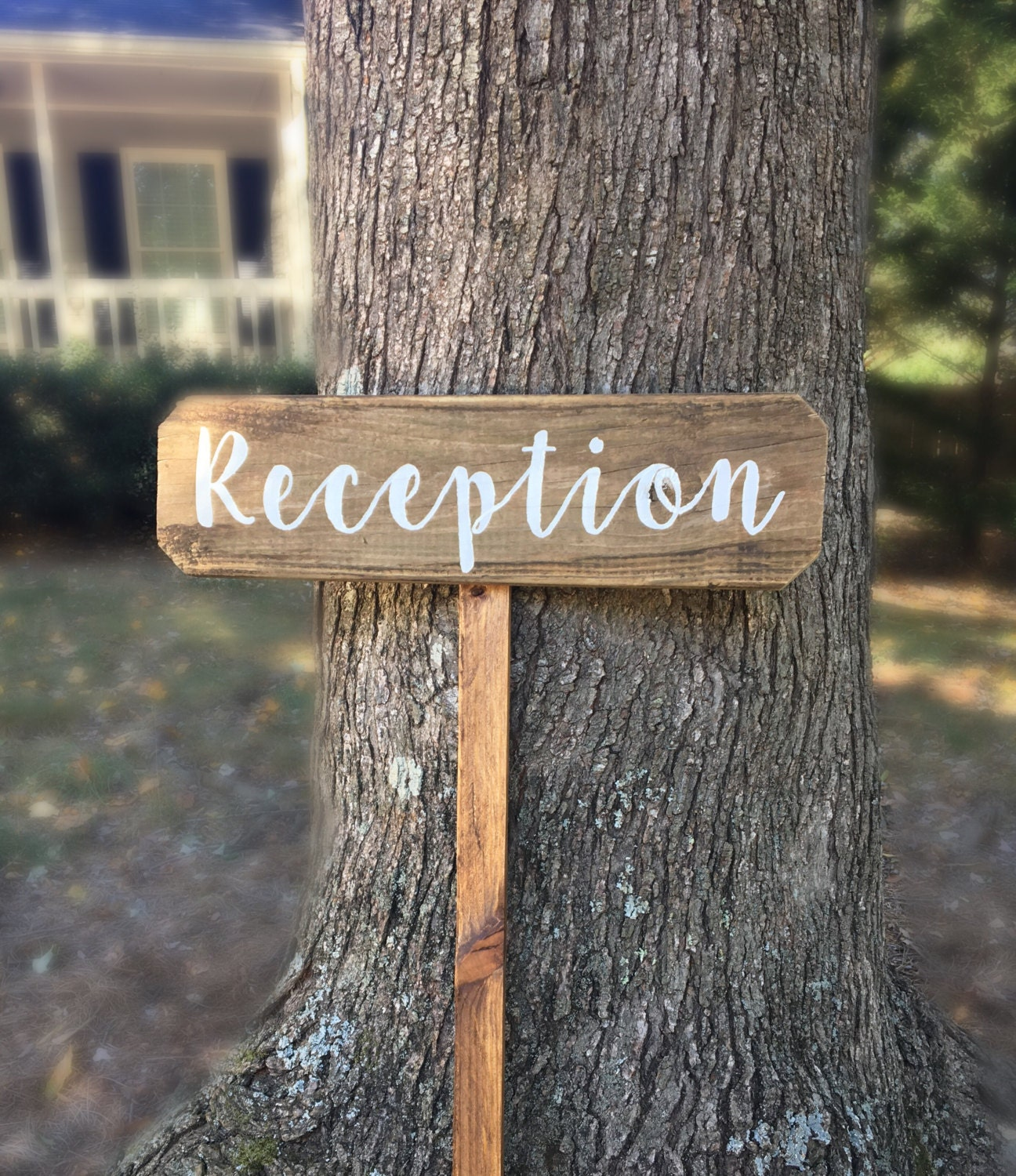 Reception Sign Wedding, Wooden Wedding Signs, Rustic Wood Signs ...