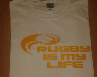 Rugby is my life novelty T-shirt