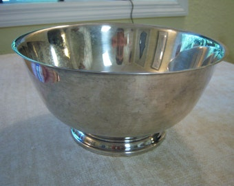 Paul Revere reproduction/Oneida/Silver plated bowl/Trophy bowl/Storage/Home decor