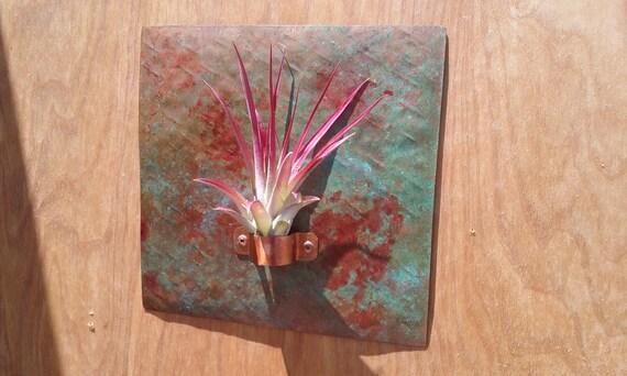 Metal Wall Art Copper Tile 7 X 7 inch Air Planter