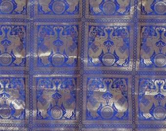 blau gold brokat | etsy - Wohnzimmer Blau Gold