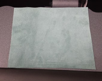 Blue Green Suede Leather Panel