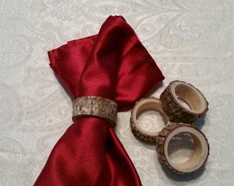 Rustic Tree Slice Napkin Rings (4 piece set)