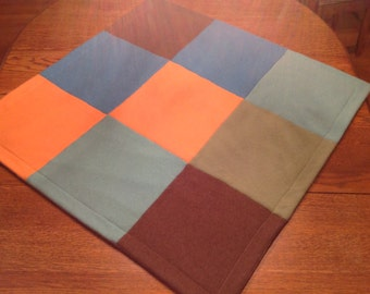 Upcycled cashmere baby blanket. Felted cashmere baby blanket.