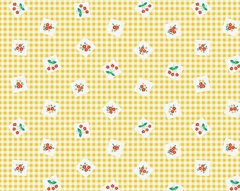 Apple Farm by Ela Lutz  Picnic yellow  5451-yellow