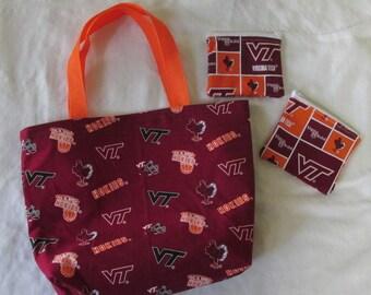 Virginia Tech Tote Bag Set
