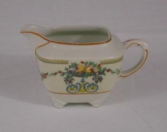 Vintage Wedgwood England Mayfair Footed Creamer Floral Design