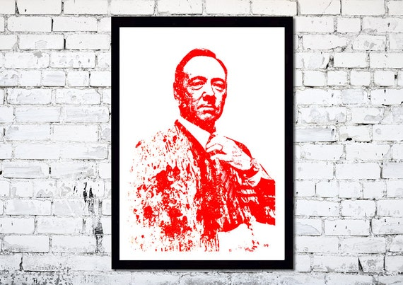House of Cards // Unique A3 Minimalist Art print // Frank Underwood
