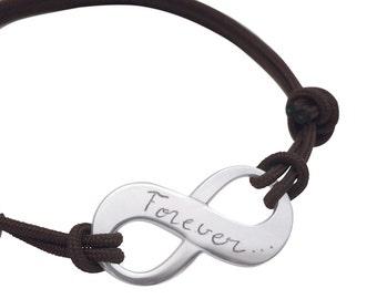 Infinite solid silver custom bracelet