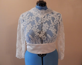 Lace / Silk Bridal Bolero