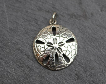Sand Dollar Pendant -  Sterling Silver