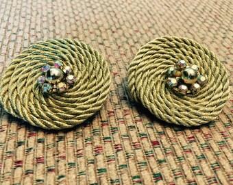 Golden Rope Earrings!
