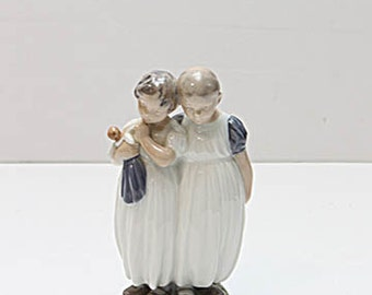 Royal Copenhagen Two Sisters Girl with Doll #939