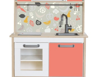 "IKEA hack: Pimp your Ikea DUKTIG play kitchen with the sticker set ""FRUKTIG"" (1W-SK04-03) - Furniture not included"