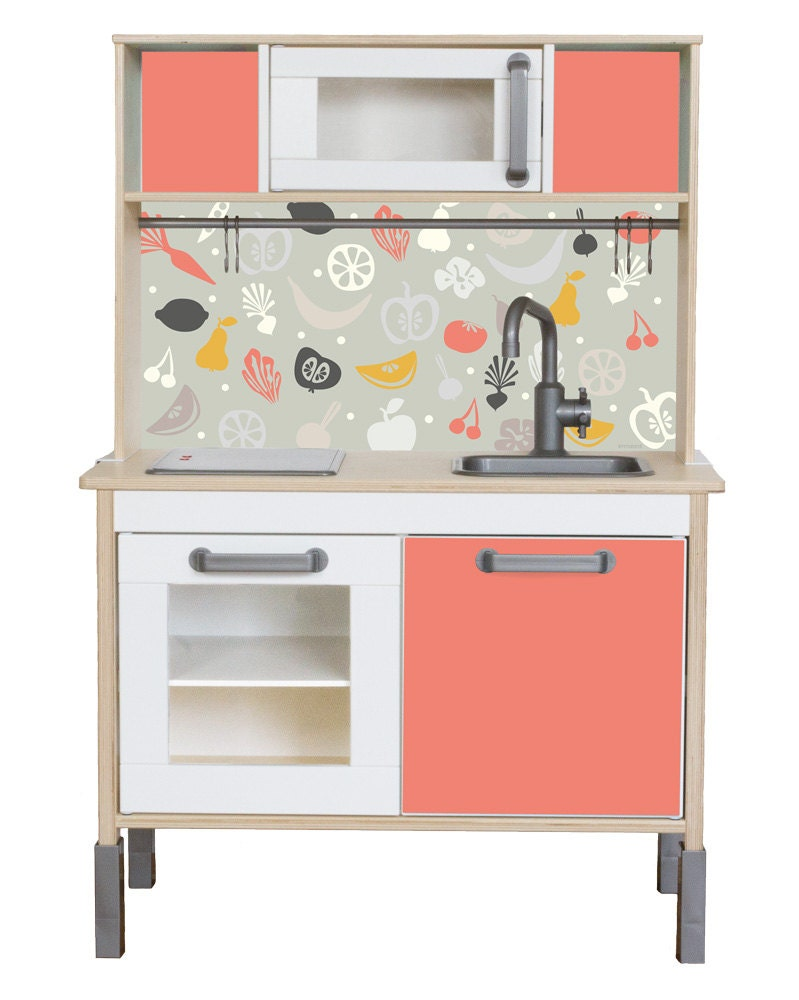 ikea hack pimp your ikea duktig play kitchen with the sticker. Black Bedroom Furniture Sets. Home Design Ideas