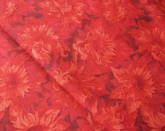 Wilmington 79263 889 shades of red flower pattern