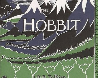 The Hobbit by J.R.R. Tolkien Classic Book Cover Graphic on 100% Preshrunk Cotton Tee Shirt