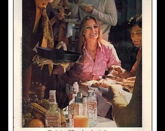 "Vintage Print Ad December 1965 : Smirnoff Vodka Sexy Girl Liquor Wall Art Decor 8.5"" x 11"" Advertisement"