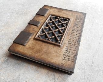 Artist - travelogue - Grimoire - latticework - book Coptic binding