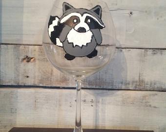 Raccoon Wine Glass