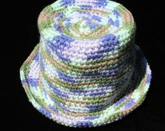 """Multi-colored 18"""" Acrylic crocheted hat"""
