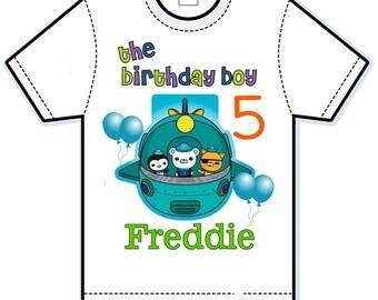 Octonauts Personalized Kids Shirt and banner set