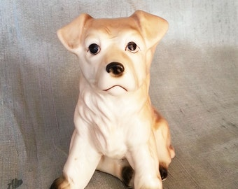 Vintage dog Figurine ,Collectible dog Figurine, dog Knick Knack, vintage, porcelain dog, Japan, collectible,porcelain figurine, ceramic dog