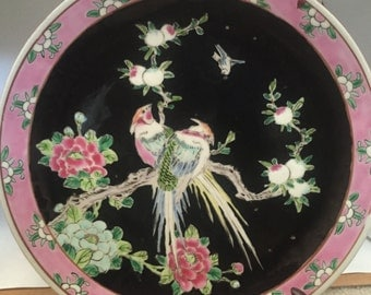 Vintage Bird of Paradise Plate made in Nippon