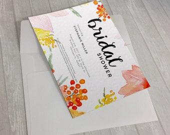 Warm Arrangements Invitation Design