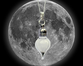 REAL Moon Dust Meteorite Necklace - Sterling Silver