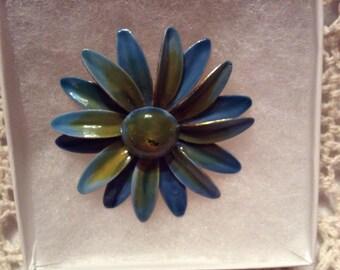 Original by Robert Painted/Enameled Flower Brooch