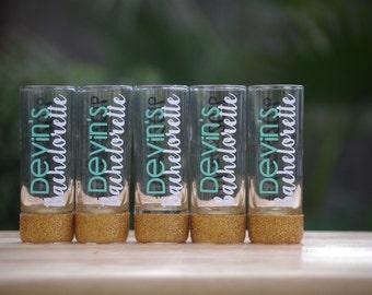 Glitter shot glasses