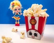 """3"""" Poppy Corn Popcorn Box - Shopkins Birthday Party"""