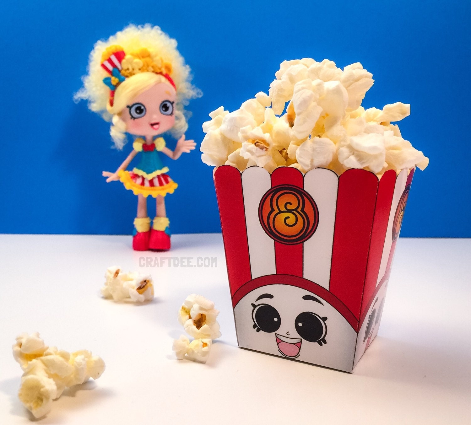 Shopkins coloring pages popcorn -  Zoom